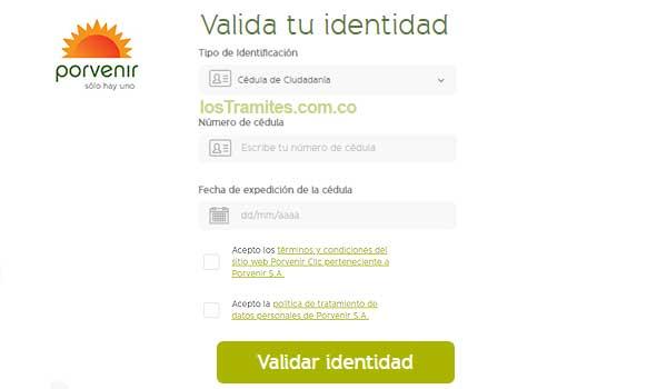 como-validar-identidad-en-porvenir-pensiones
